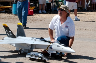 Owner of model jet airplane