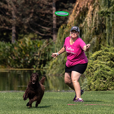 Disc Dog and Master